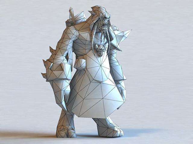Elder Sage Akama 3d rendering