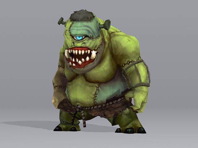 Cyclops Mythological Creature 3d rendering