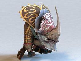 Anime Humanoid Rhino 3d model preview