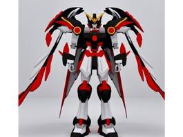 Gundam Wing Zero 3d model preview