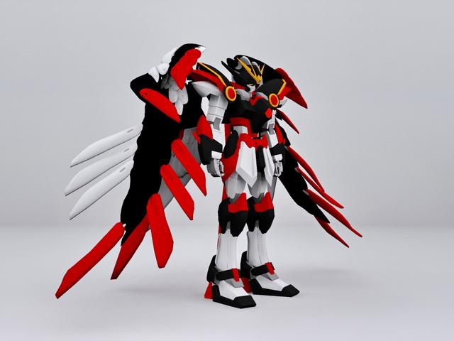 Gundam Wing Zero 3d rendering