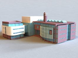 Small Office Building 3d preview