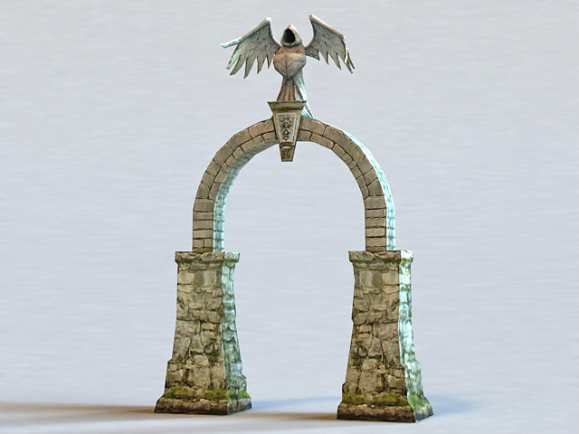 Medieval Stone Arch 3d rendering