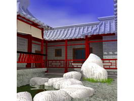 Chinese-style Garden 3d preview