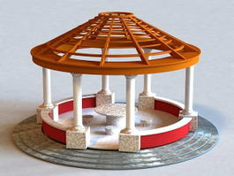 Round Pavilion Structure 3d preview