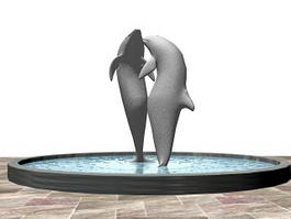 Dolphin Fountain 3d preview