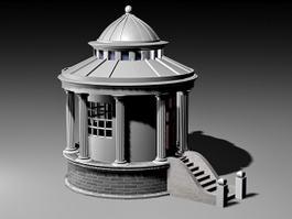 Small Backyard Pavilion 3d model preview