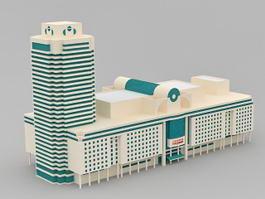 Commercial Building Complex 3d model preview
