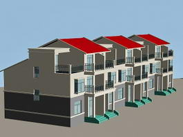 Modern Row Houses 3d preview