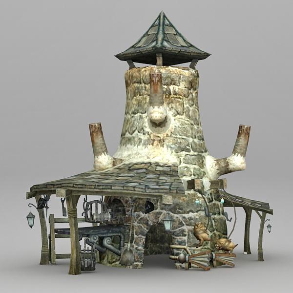 Medieval Blacksmith 3d rendering