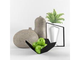 Desk Decorations Plant 3d model preview