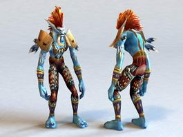 Voljin World of Warcraft Character 3d preview