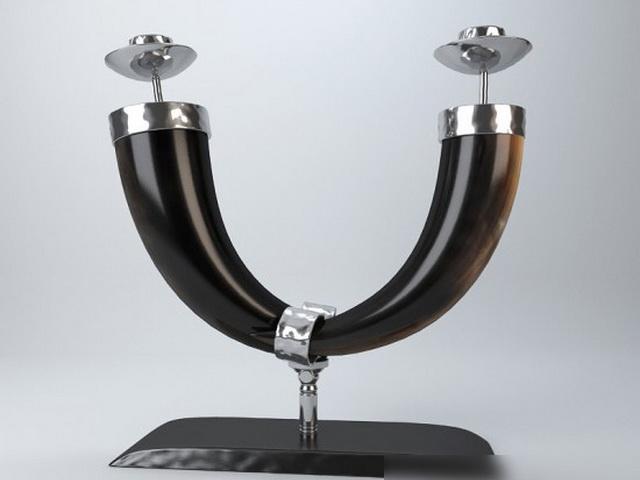 Cow Horn Decor 3d rendering