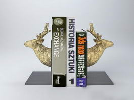 Deer Head Bookends 3d preview