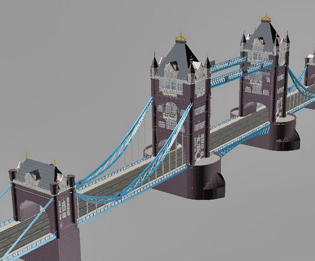 Tower Bridge London 3d rendering