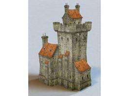 Village Castle 3d model preview
