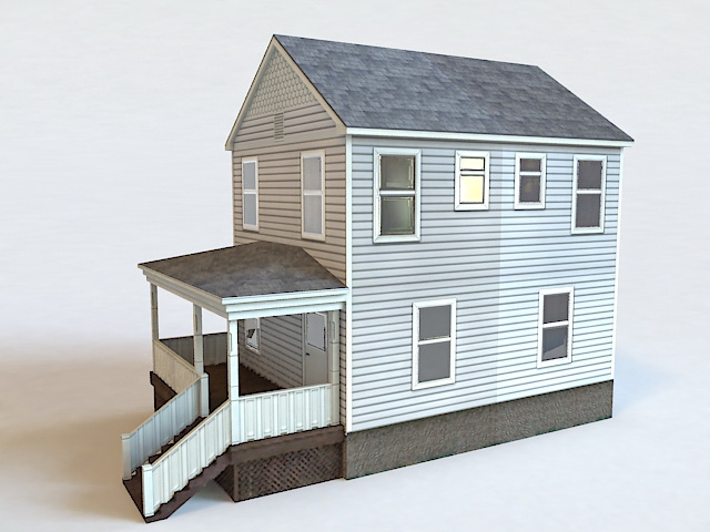 Tiny Cottage House 3d rendering