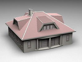 Historical Mansion House 3d preview