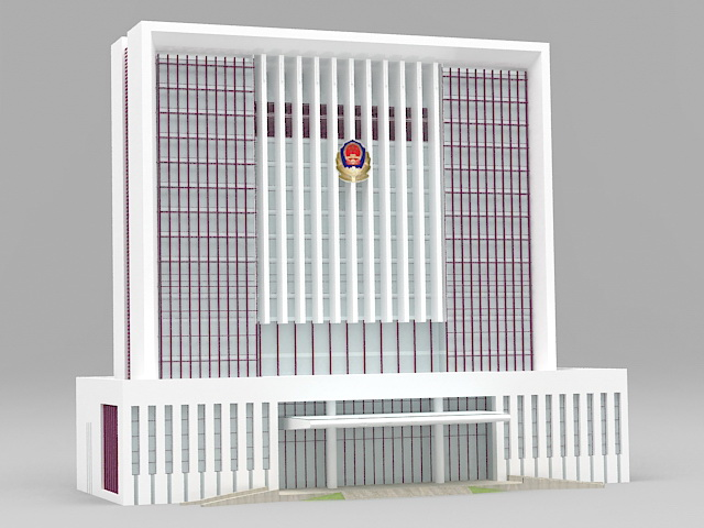 China Government Office Building 3d rendering