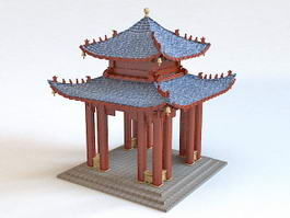 Chinese Pavilion Architecture 3d model preview
