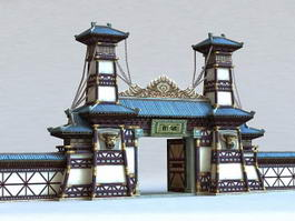 Gate of Chinese Temple 3d preview