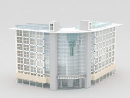 Commercial Office Building Architecture 3d model preview
