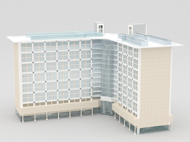 Commercial Office Building Architecture 3d rendering