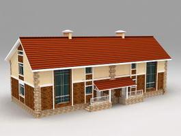 Modern Townhouse 3d preview