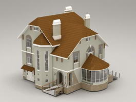 English Country House 3d model preview
