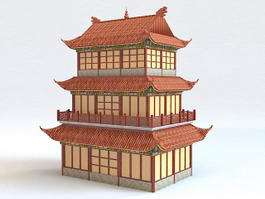 Chinese Belfry Architecture 3d preview