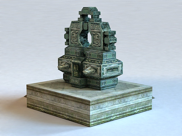 Sacrificial Altar 3d rendering