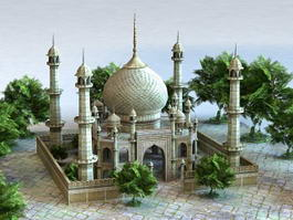 Arab Palace Architecture 3d model preview