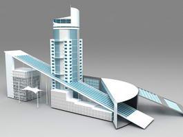Business Center Buildings 3d model preview