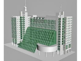 Modern Hotel Buildings 3d preview