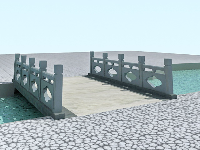 Landscape Footbridge 3d rendering