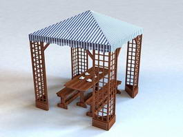 Outdoor Patio Canopy Gazebo 3d preview
