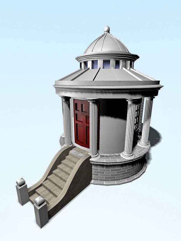 Garden Summer House 3d rendering