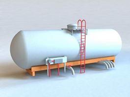 Oil Storage Tank 3d preview