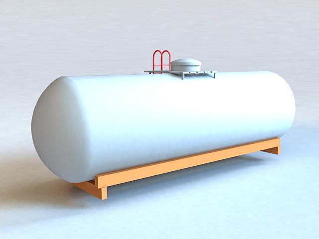 Oil Storage Tank 3d rendering