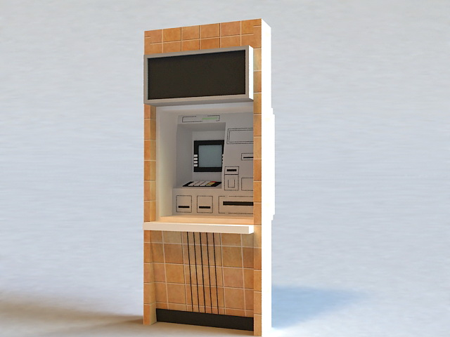 Bank ATM Machine 3d rendering