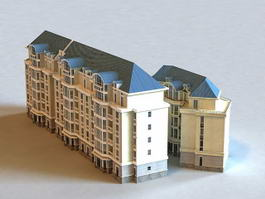 Modern Residential Apartment Buildings 3d model preview