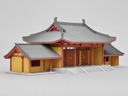 Sanmon Gate of Temple 3d model preview