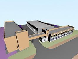 Wholesale Market Buildings 3d model preview