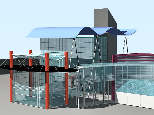 Glass House Design 3d rendering