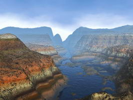 Grand Canyon with River 3d model preview