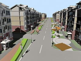 Residential Street 3d preview