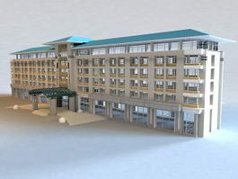 Small Hotel Buildings 3d preview