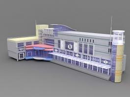 Small Hotel Exterior Design 3d preview