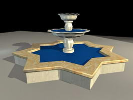 Courtyard Fountain 3d preview