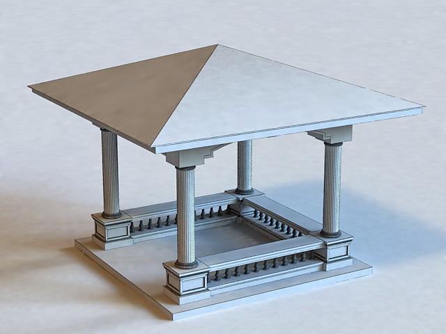 Square Pavilion 3d rendering